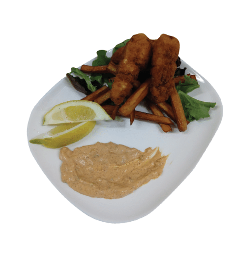Fish & Chips with Cajun Tartar Sauce