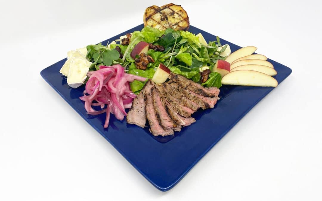 Steak & Camembert Salad with Balsamic Vinegar